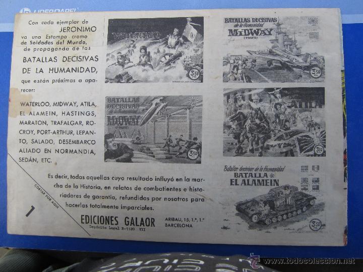 Tebeos: JERONIMO N. 4 ORIGINAL , EDICIONES GALAOR , - Foto 2 - 46178493