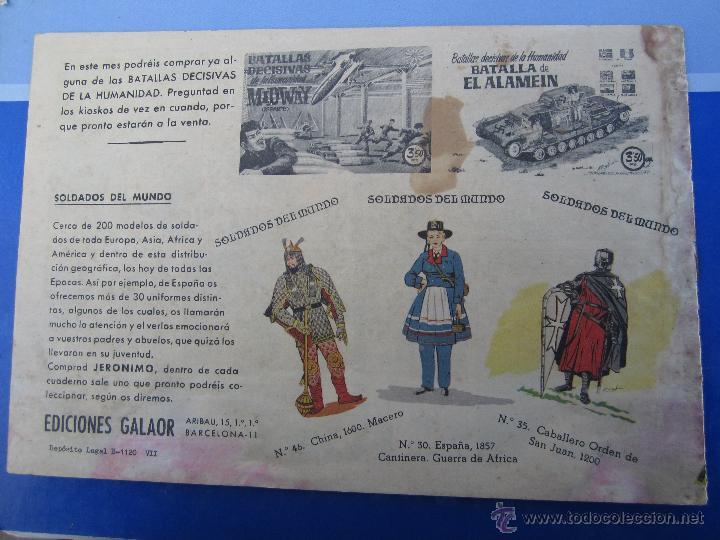 Tebeos: JERONIMO N. 6 ORIGINAL , EDICIONES GALAOR , - Foto 2 - 46178538