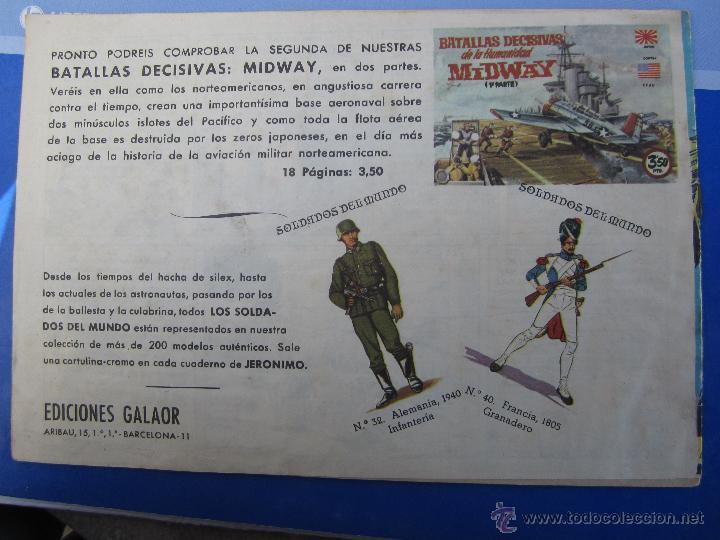 Tebeos: JERONIMO N. 10 ORIGINAL , EDICIONES GALAOR , - Foto 2 - 46178676