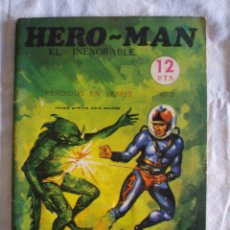 Tebeos: HERO-MAN EL INEXORABLE Nº 3 PERDIDOS EN VENUS COMIC ANTIGUO GALAOR 1969. Lote 48011638