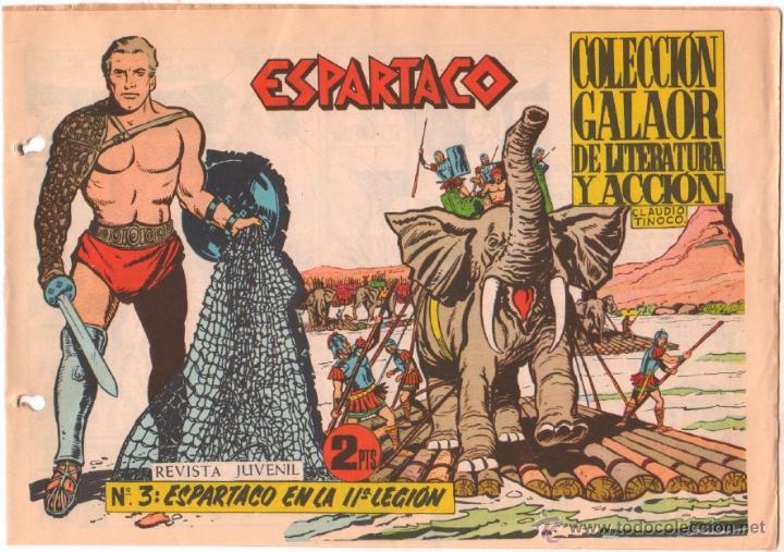 ESPARTACO ORIGINAL Nº 3 EDITORIAL GALAOR 1964 (Tebeos y Comics - Galaor)