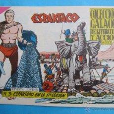 Tebeos: ESPARTACO , NUMERO 3 , COLECCION GALAOR ,ORIGINAL 1964. Lote 51080446