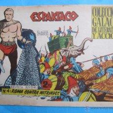 Tebeos: ESPARTACO , NUMERO 4 , COLECCION GALAOR ,ORIGINAL 1964. Lote 51080471