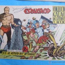 Tebeos: ESPARTACO , NUMERO 6 , COLECCION GALAOR ,ORIGINAL 1964. Lote 51080492