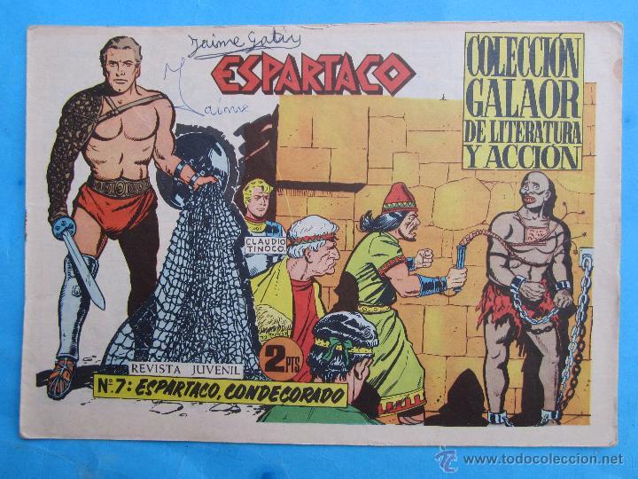 ESPARTACO , NUMERO 7 , COLECCION GALAOR ,ORIGINAL 1964 (Tebeos y Comics - Galaor)