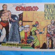 Tebeos: ESPARTACO , NUMERO 7 , COLECCION GALAOR ,ORIGINAL 1964. Lote 51080528