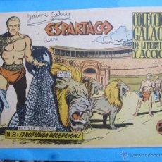 Tebeos: ESPARTACO , NUMERO 8 , COLECCION GALAOR ,ORIGINAL 1964. Lote 51080546