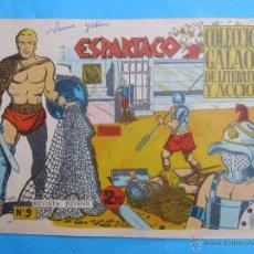 Tebeos: ESPARTACO , NUMERO 9 , COLECCION GALAOR ,ORIGINAL 1964. Lote 51405235