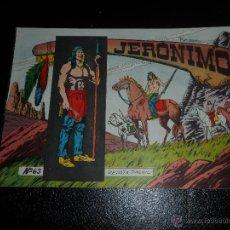 Tebeos: JERONIMO Nº 63 EDITORIAL GALAOR ORIGINAL. Lote 53517074