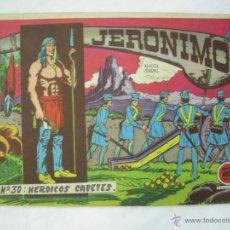 Tebeos: JERONIMO - Nº 30 : HEROICOS CADETES - EDICIONES GALAOR - ORIGINAL . Lote 53974331