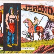 Tebeos: JERONIMO ORIGINAL Nº 63 EDITORIAL GALAOR , EXCELENTE ESTADO. Lote 55300520