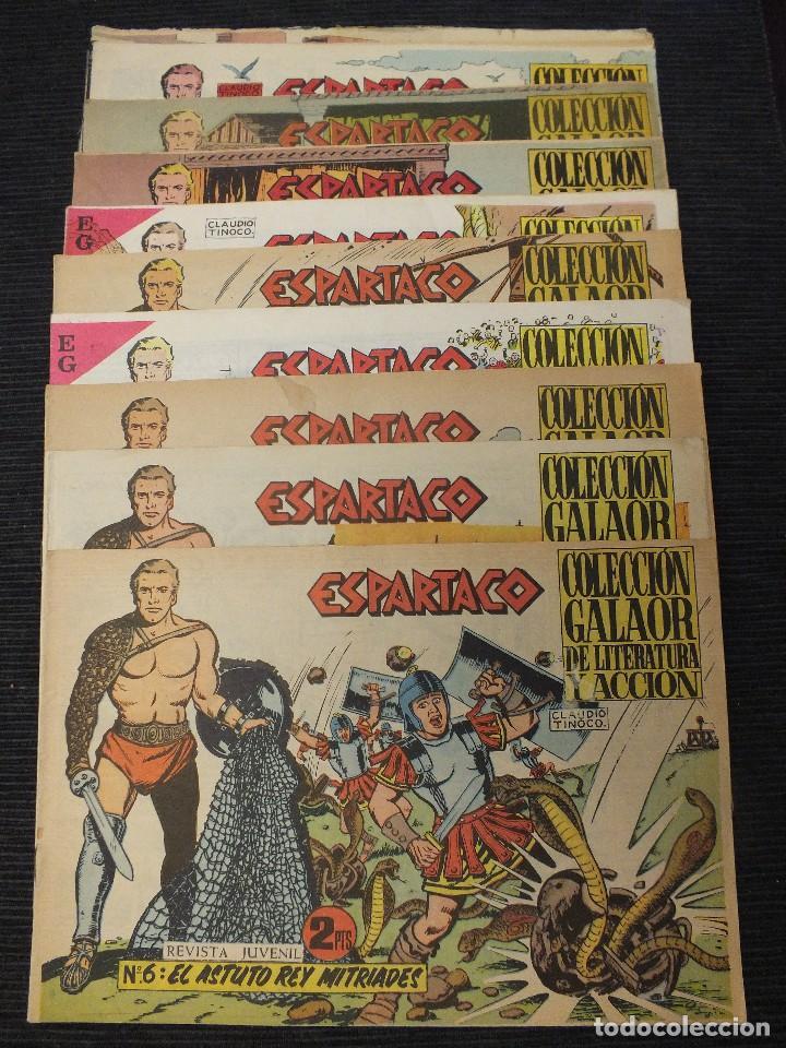 ESPARTACO COLECCIÓN ORIGINAL GALAOR MAGNÍFICO LOTE DE 8 EJEMPLARES DE 26 QUE FORMAN LA COLECCION (Tebeos y Comics - Galaor)