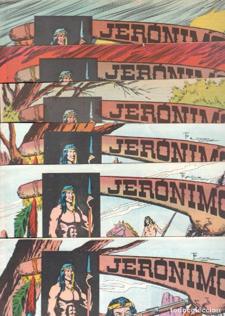 LOTE JERONIMO ORIGINALES NºS 41,42,44,62,63,64 EDI. GALAOR 1964 (Tebeos y Comics - Galaor)