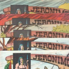 Tebeos: LOTE JERONIMO ORIGINALES NºS 41,42,44,62,63,64 EDI. GALAOR 1964. Lote 63418956