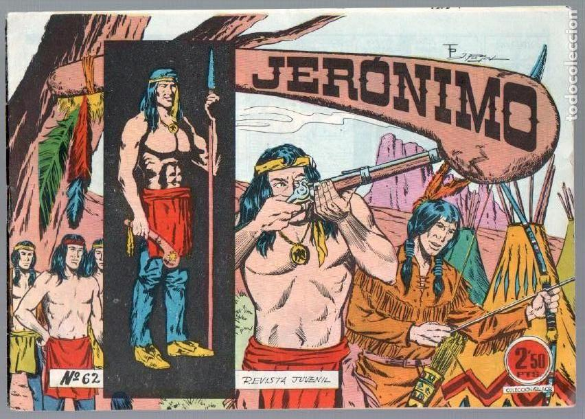 Tebeos: LOTE JERONIMO ORIGINALES NºS 41,42,44,62,63,64 EDI. GALAOR 1964 - Foto 2 - 63418956