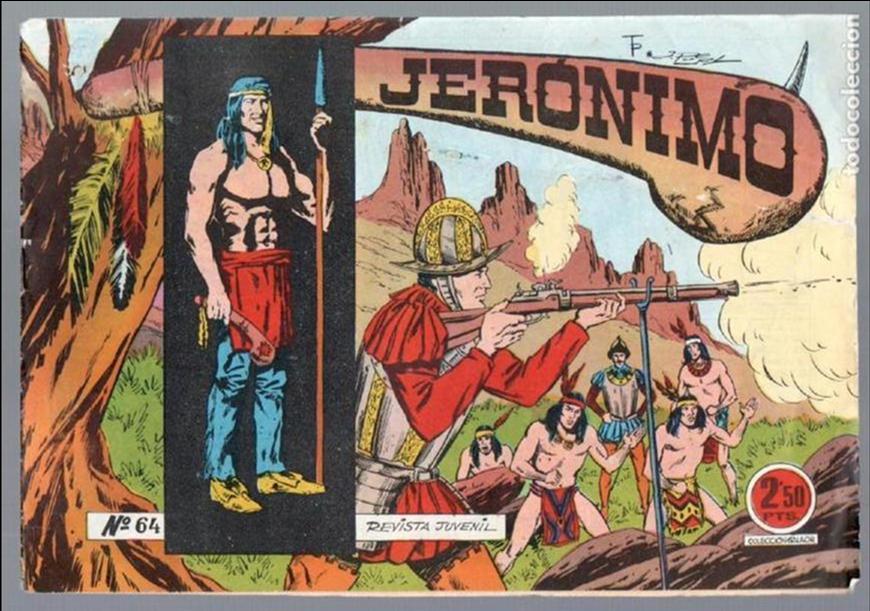 Tebeos: LOTE JERONIMO ORIGINALES NºS 41,42,44,62,63,64 EDI. GALAOR 1964 - Foto 4 - 63418956