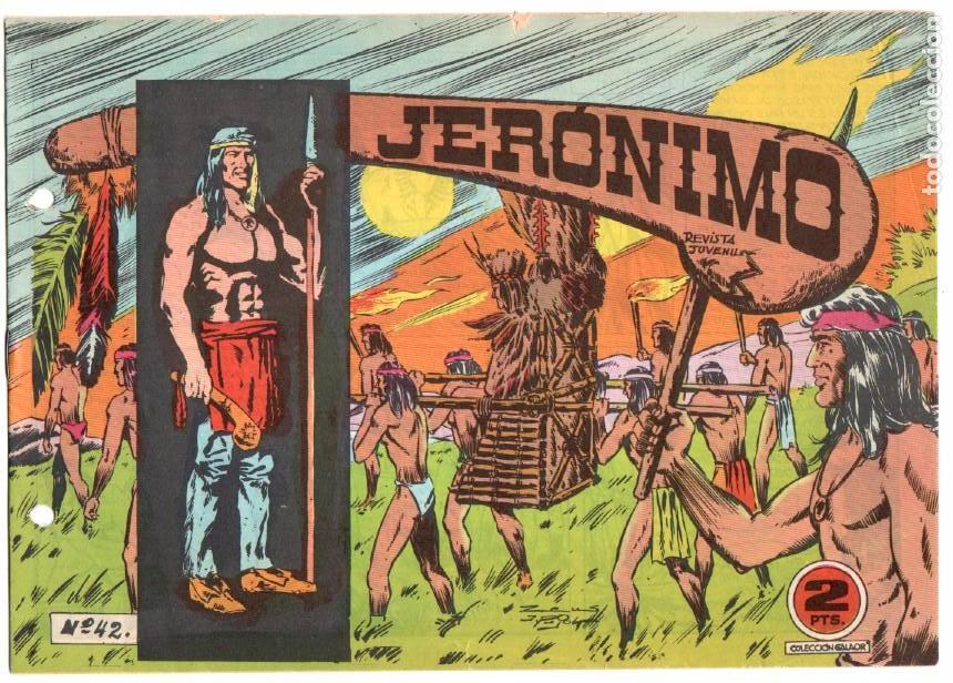 Tebeos: LOTE JERONIMO ORIGINALES NºS 41,42,44,62,63,64 EDI. GALAOR 1964 - Foto 6 - 63418956