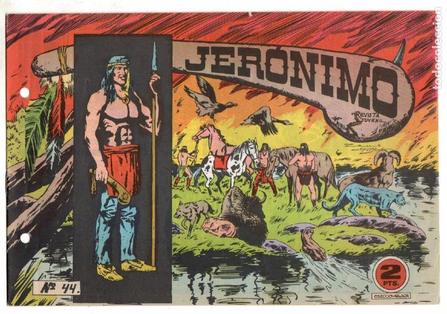 Tebeos: LOTE JERONIMO ORIGINALES NºS 41,42,44,62,63,64 EDI. GALAOR 1964 - Foto 7 - 63418956