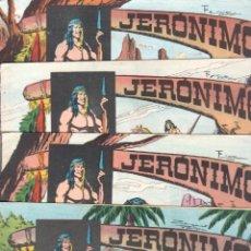 Tebeos: LOTE JERONIMO ORIGINALES NºS - 41,42,44,55,56,62,63,64 - GALAOR 1964 - VER TODAS LAS PORTADAS. Lote 63419532