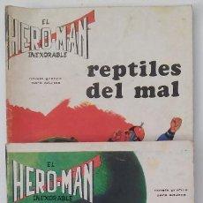 Tebeos: HERON-MAN. EL INEXORABLE. LOTE DE 3 REVISTAS. Lote 80842339
