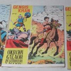 Tebeos: GENGIS KHAN DE GALAOR LOTE 3 COMICS NÚMEROS 3, 4 Y 5. Lote 92465435