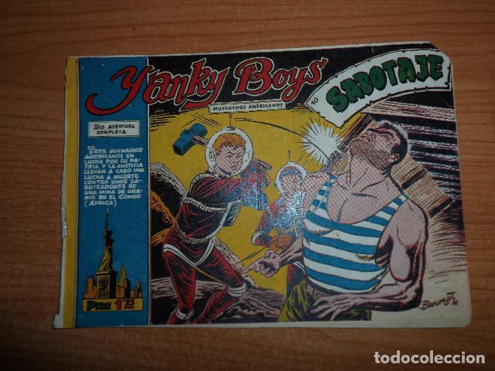 YANKY BOYS Nº 10, EDITORIAL FERMA 1956 ORIGINAL (Tebeos y Comics - Galaor)