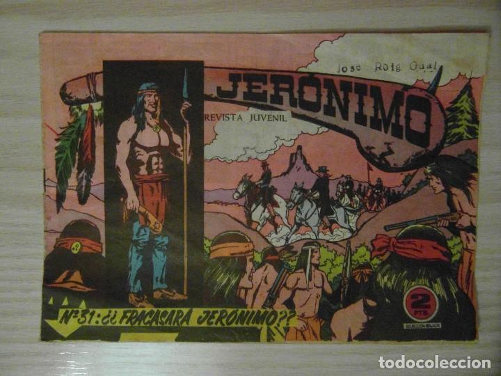 ¿¿FRACASARA JERONIMO??. Nº 31 DE JERONIMO. EDICIONES GALAOR. 1964. SOLDADOS DEL MUNDO (Tebeos y Comics - Galaor)
