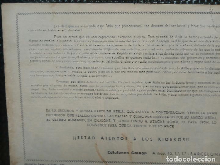 Tebeos: COMIC ATILA Nº 4 - ORIGINAL - EDT. GALAOR ( M-1) - Foto 2 - 116333047