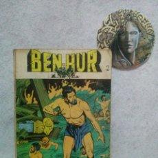 Tebeos: BEN-HUR Nº 2 EDICIONES GALAOR 1968....CON SEÑALES DE USO.. Lote 120856015