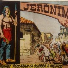 Tebeos: JERÓNIMO DE EDITORIAL GALAOR. NÚM 7:LOS APACHES DECLARAN LA GUERRA A MEJICO.. Lote 126416104
