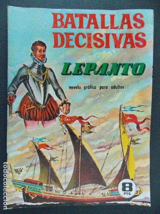 BATALLAS DECISIVAS, LEPANTO - EDICIONES GALAOR - AÑOS 60 - BUEN ESTADO...R-9984 (Tebeos y Comics - Galaor)