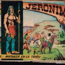 Tebeos: JERONIMO. Nº-4 MATANZA EN LA TRIBU. EDICIONES GALAOR. 1964. Lote 132223786