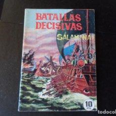 Tebeos: BATALLAS DECISIVAS SALAMINA EDITA GALAOR. Lote 145611250