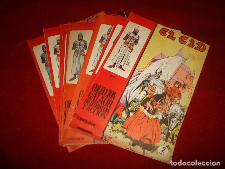 EL CID GALAOR 1966 15 CUADERNILLOS MUY BUEN ESTADO (Tebeos y Comics - Galaor)