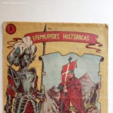 Tebeos: EFEMERIDES HISTÓRICAS ORIGINAL Nº 8 - DON PELAYO - RICART 1958 1ª ÈPOCA 1,50 PTS. - HU. Lote 150846766