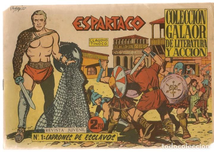 ESPARTACO. Nº 1. LADRONES DE ESCLAVOS. COLECCIÓN GALAOR. ¡¡ORIGINAL!!. (Z/C7) (Tebeos y Comics - Galaor)