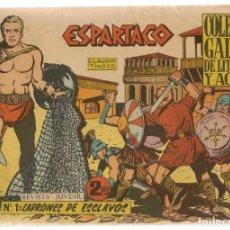 Tebeos: ESPARTACO. Nº 1. LADRONES DE ESCLAVOS. COLECCIÓN GALAOR. ¡¡ORIGINAL!!. (Z/C7) . Lote 155841610