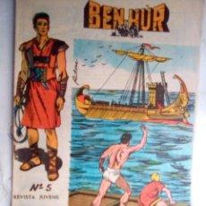 Giornalini: BEN-HUR- Nº 5 - UNA ORIGINAL Y VIBRANTE ADAPTACIÓN- 1965- GRAN CARLOS PRUNÉS-BUENO-DIFÍCIL-1404. Lote 168975124