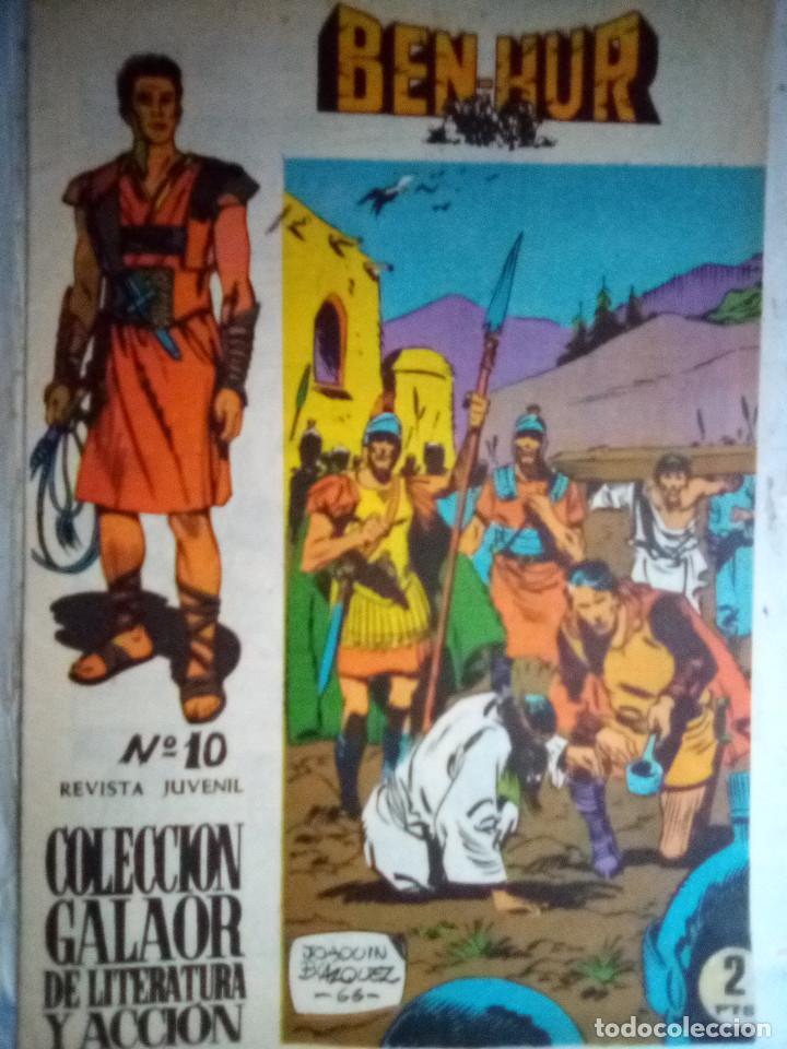 BEN-HUR- Nº 10 - ÚTIMO NÚMERO-ORIGINAL Y VIBRANTE ADAPTACIÓN-1966- FELIX MARTZ-BUENO-DIFÍCIL-1408 (Tebeos y Comics - Galaor)