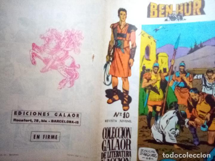 Tebeos: BEN-HUR- Nº 10 - ÚTIMO NÚMERO-ORIGINAL Y VIBRANTE ADAPTACIÓN-1966- FELIX MARTZ-BUENO-DIFÍCIL-1408 - Foto 2 - 169031928