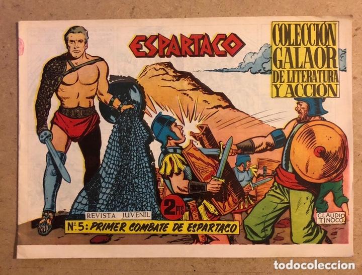 ESPARTACO N° 5 (COLECCIÓN GALAOR 1964). PRIMER COMBATE DE ESPARTACO. (Tebeos y Comics - Galaor)