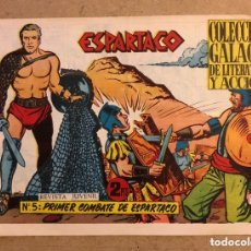 Tebeos: ESPARTACO N° 5 (COLECCIÓN GALAOR 1964). PRIMER COMBATE DE ESPARTACO.. Lote 172581695