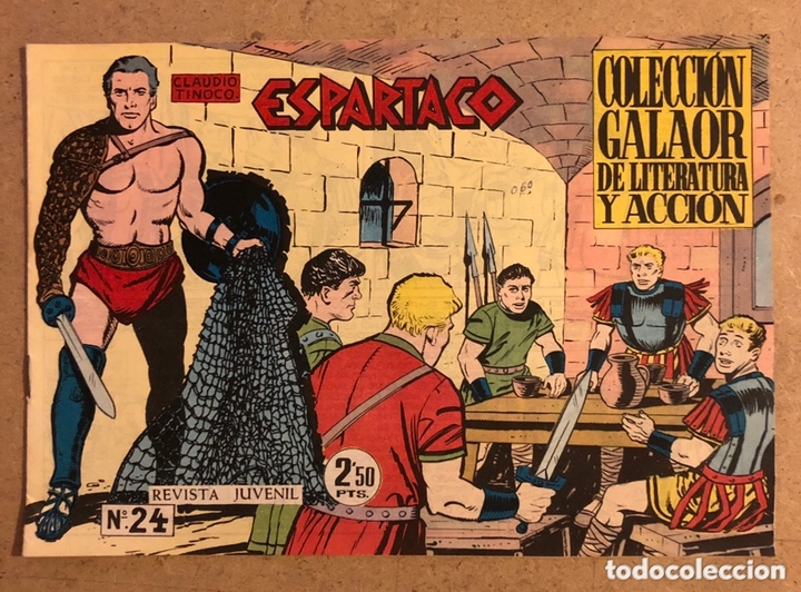 ESPARTACO N° 24 (COLECCIÓN GALAOR 1964). (Tebeos y Comics - Galaor)