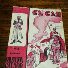 Tebeos: EL CID- COLECCIÓN GALAOR DE LITERATURA Y ACCIÓN, N°6. ED. GALAOR, 1966.. Lote 180167400