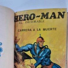 Tebeos: HERO-MAN, EL INEXORABLE-TOMO CON 8 NÚMEROS - EDICIONES GALAOR - AÑO 1968.. Lote 186324577