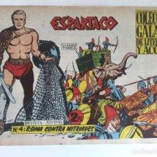 Tebeos: ESPARTACO - NUMERO 4 - GALAOR, ORIGINAL - GCH. Lote 186705990