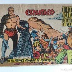 Tebeos: ESPARTACO - NUMERO 5 - GALAOR, ORIGINAL - GCH. Lote 186706700