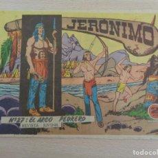 Giornalini: JERÓNIMO NÚM. 27 EL ARCO PEDRERO EDITA GALAOR. BUEN ESTADO. Lote 187111288