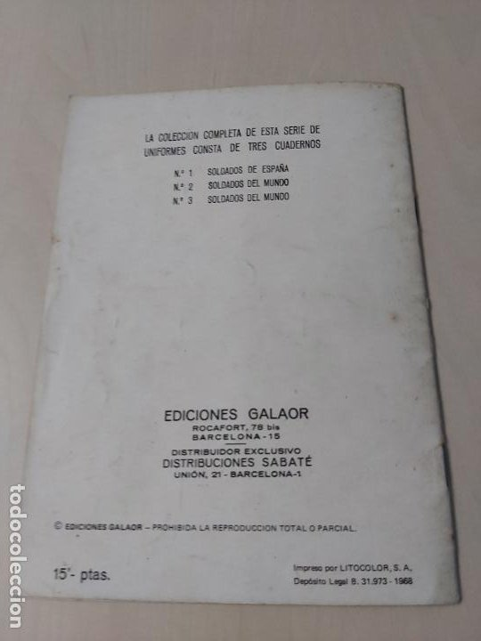 Tebeos: SOLDADOS DE ESPAÑA Nº 2 - GALAOR - Foto 11 - 188734597