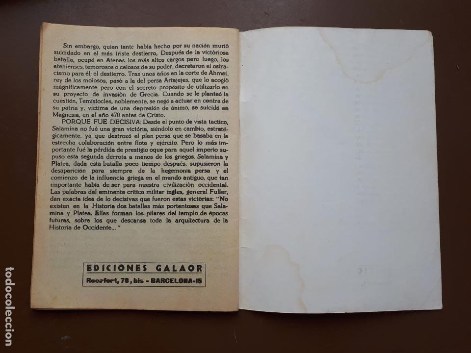 Tebeos: Batallas Decisivas. Salamina - Galaor - Foto 4 - 195863220
